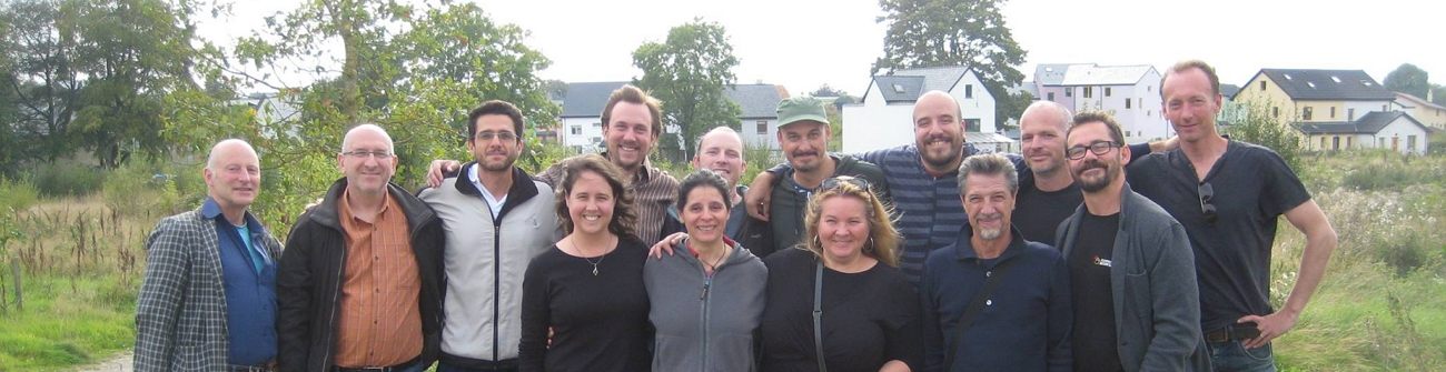 P2P Foundation members and friends at the Open Everything Convergence, Cloughjordan, Ireland.