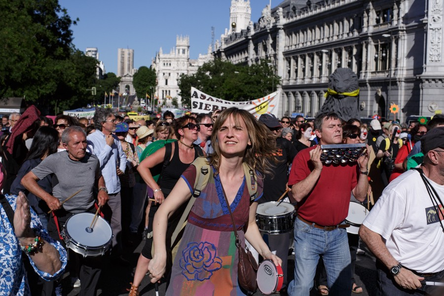 The 15M anniversary march in Madrid on May 16. (Robert Pluma)