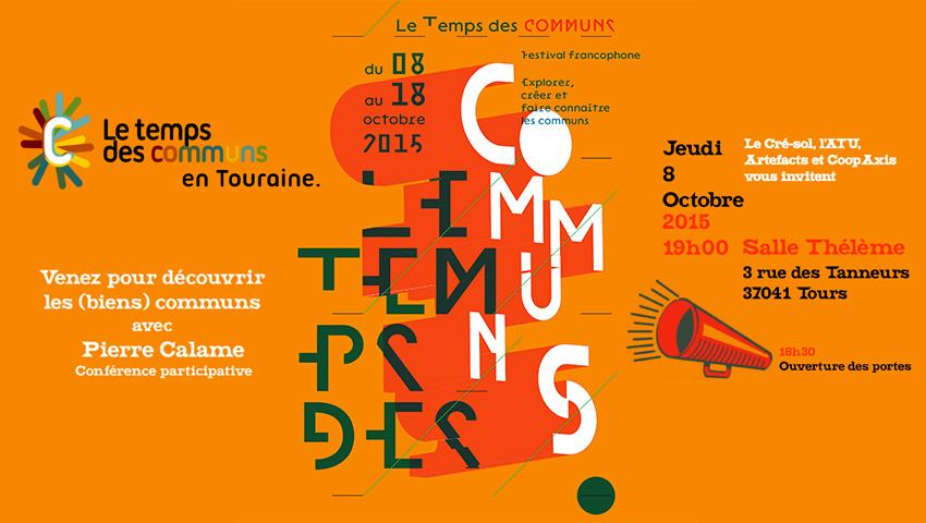 Poster from Le Temps des Communs Festival