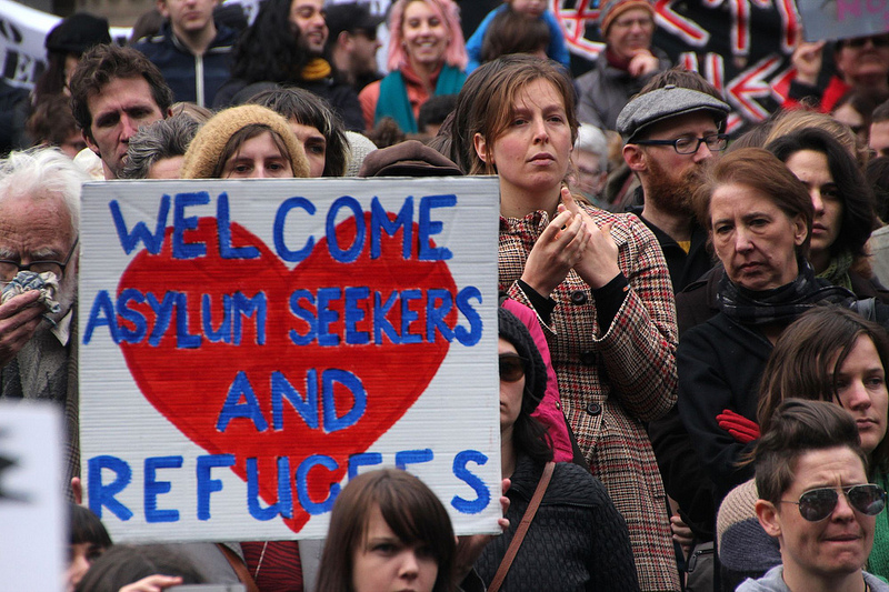 Refugee Action protest, Melbourne. Image by Takver